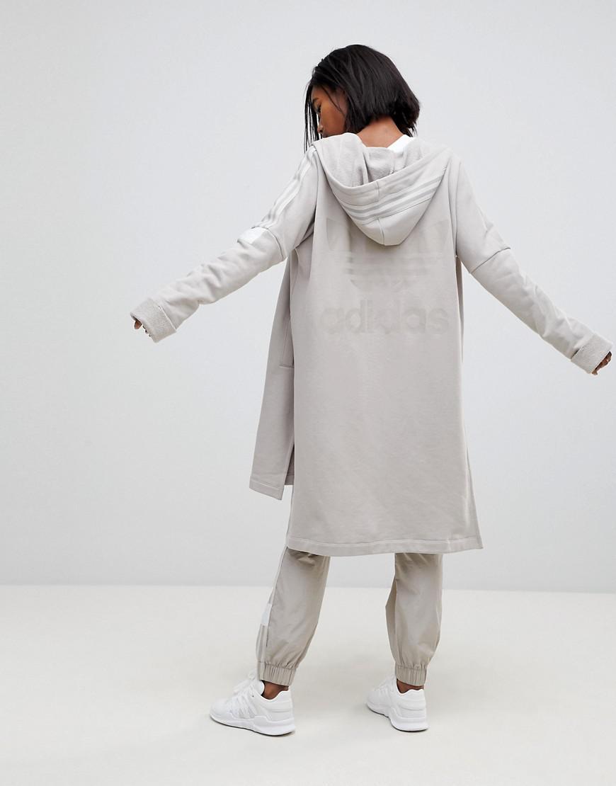 adidas originals adibreak longline full zip hoodie in. Black Bedroom Furniture Sets. Home Design Ideas