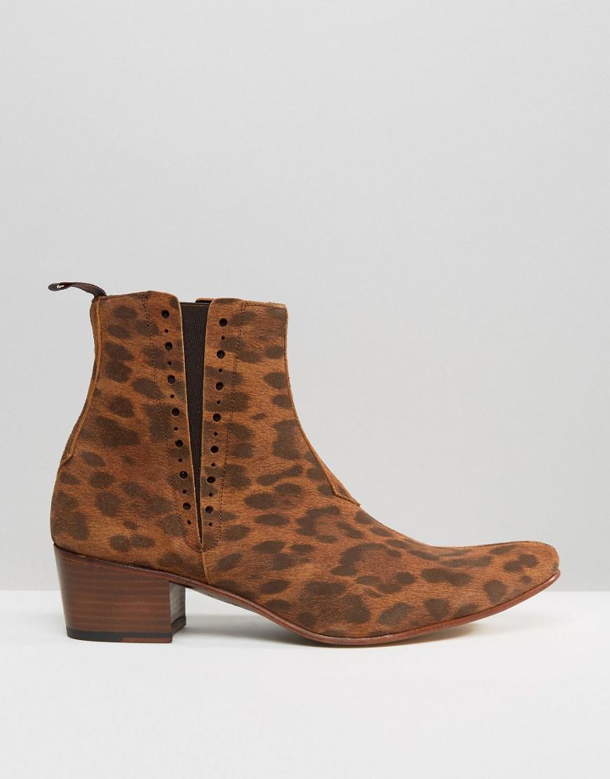 lyst jeffery west murphy suede chelsea boots in brown