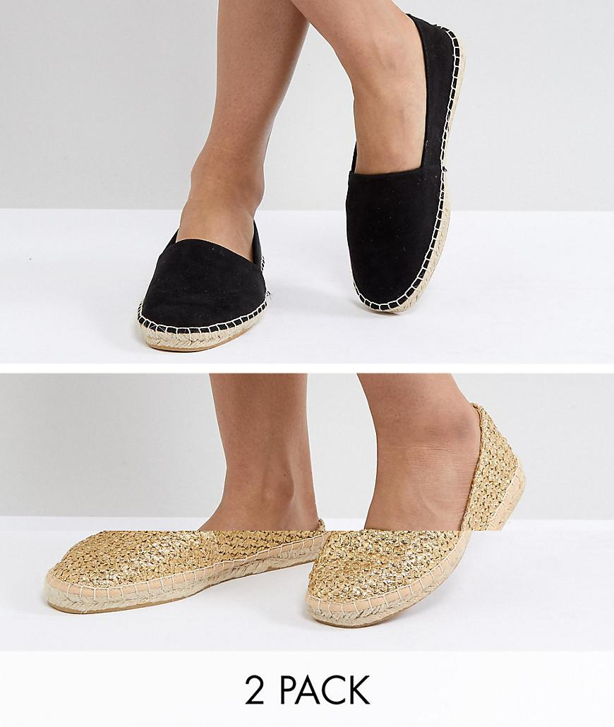 56483f17a0ec ASOS. Women s Asos Jally Two Pack Espadrilles
