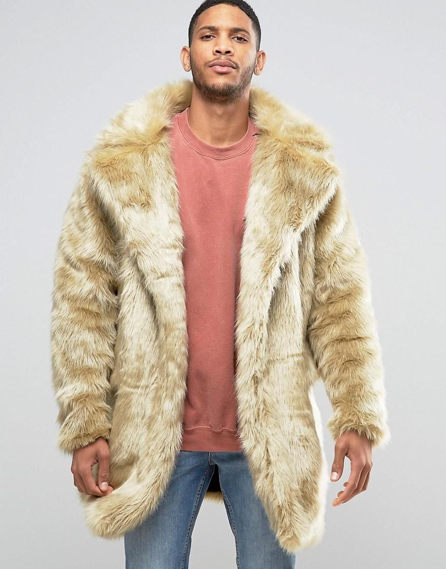 993b20d7ca9 The New County Faux Fur Coat in Natural for Men - Lyst