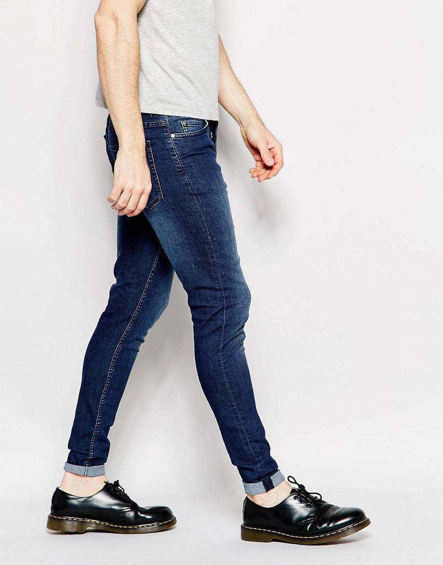 Cheap monday Jeans Him Spray Stretch Super Skinny Fit Dark ...
