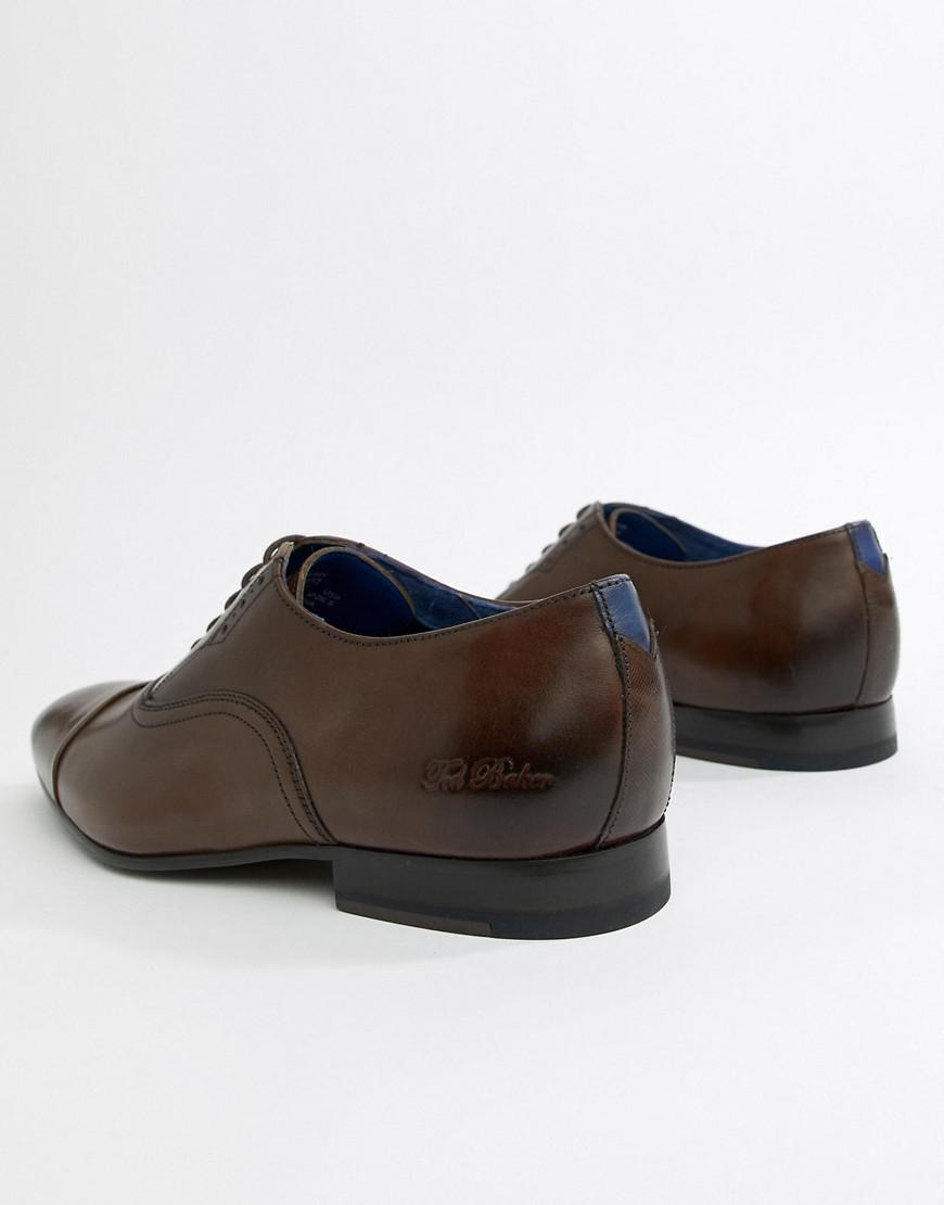 3c5c91a9013913 Ted Baker Murain Oxford Shoes In Brown Leather in Brown for Men - Lyst