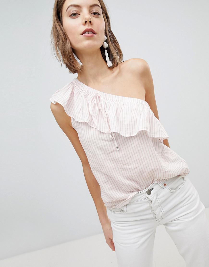 864ca9c1efd Lyst - Vero Moda Off The Shoulder Striped Top