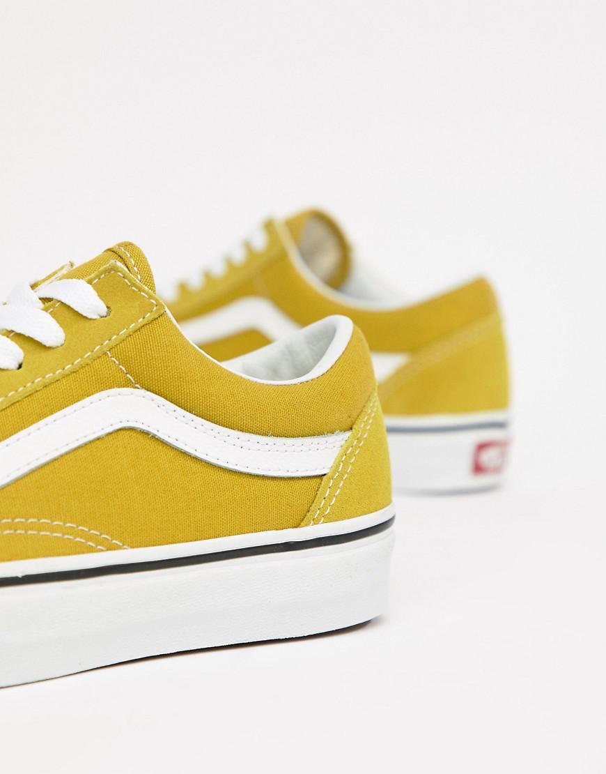 751a52ef4596c5 Vans Mustard Old Skool Sneakers in Green - Lyst