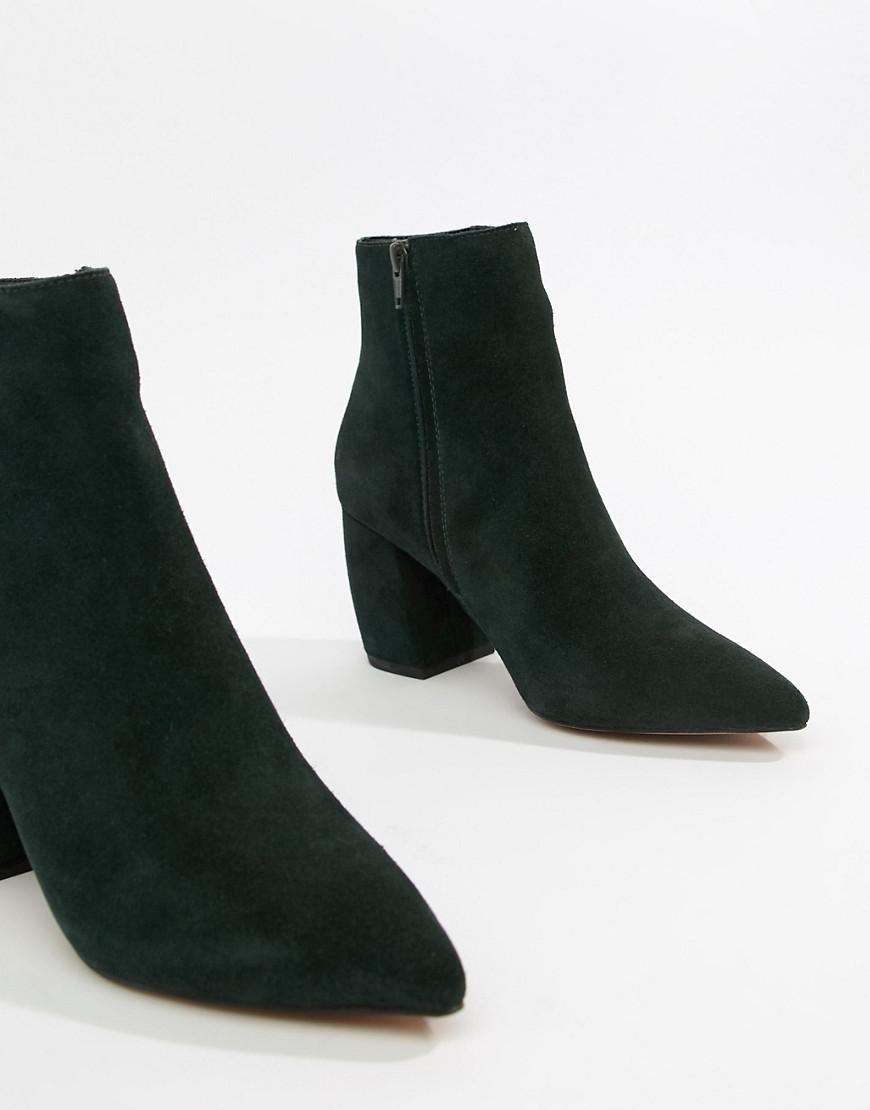 1cb6279b8b2 Lyst - ASOS Radius Suede Ankle Boots in Green
