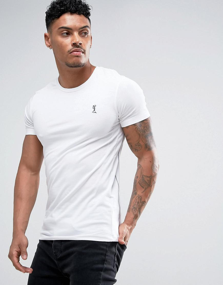 18431c56 Religion - White Crew Neck T-shirt In Muscle Fit for Men - Lyst. View  fullscreen