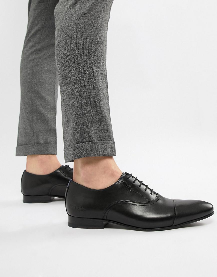 eb974b9ba2a881 Ted Baker Murain Oxford Shoes In Black Leather in Black for Men - Lyst