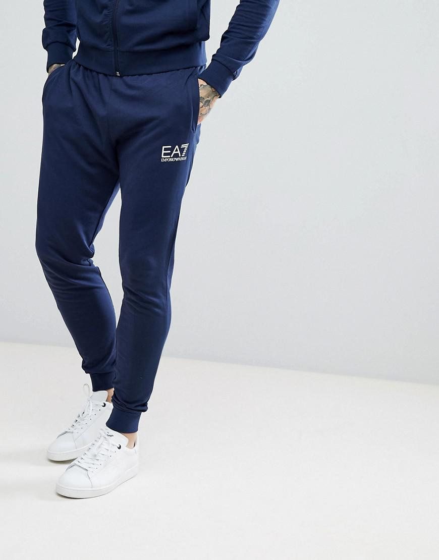 ba4ad95e8a5e Ea7 Slim Fit Small Logo Sweat Joggers In Navy in Blue for Men - Lyst