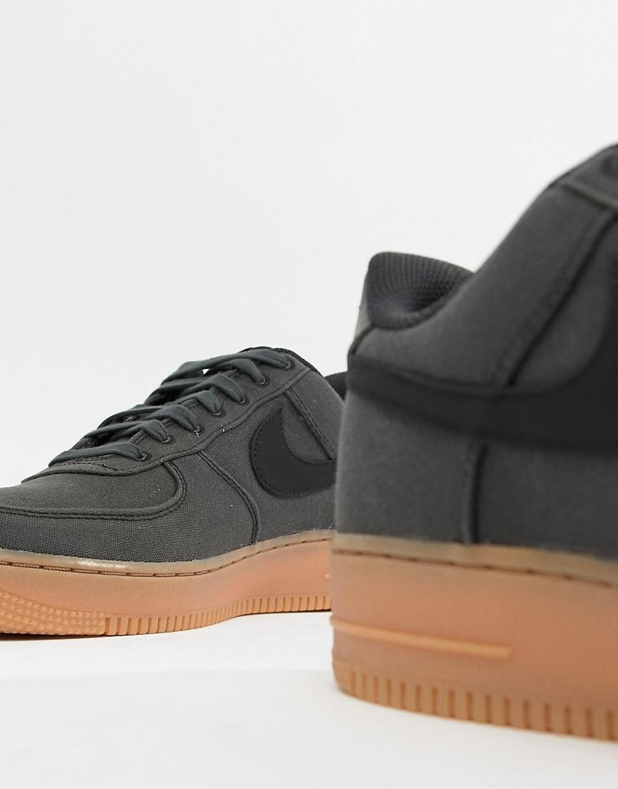 Nike Air Force 1  07 Style Trainers With Gumsole In Black Aq0117-002 in  Black for Men - Lyst 174d744ec