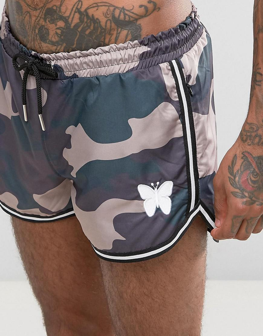 06ab8b9530 Good For Nothing Swim Shorts In Camo in Green for Men - Lyst