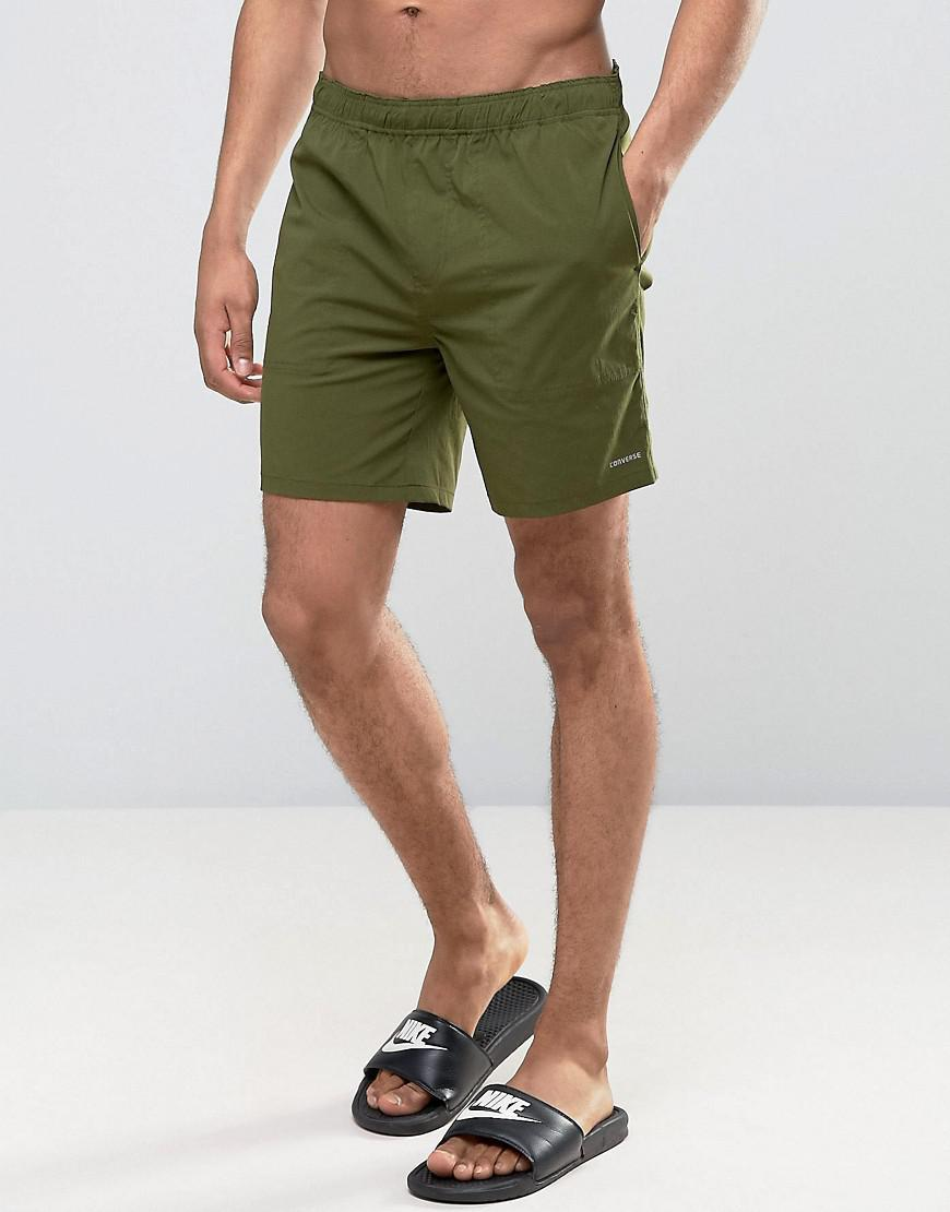 8406daa3c8 Converse Quick Dry Swim Shorts In Green 10003459-a06 in Green for ...