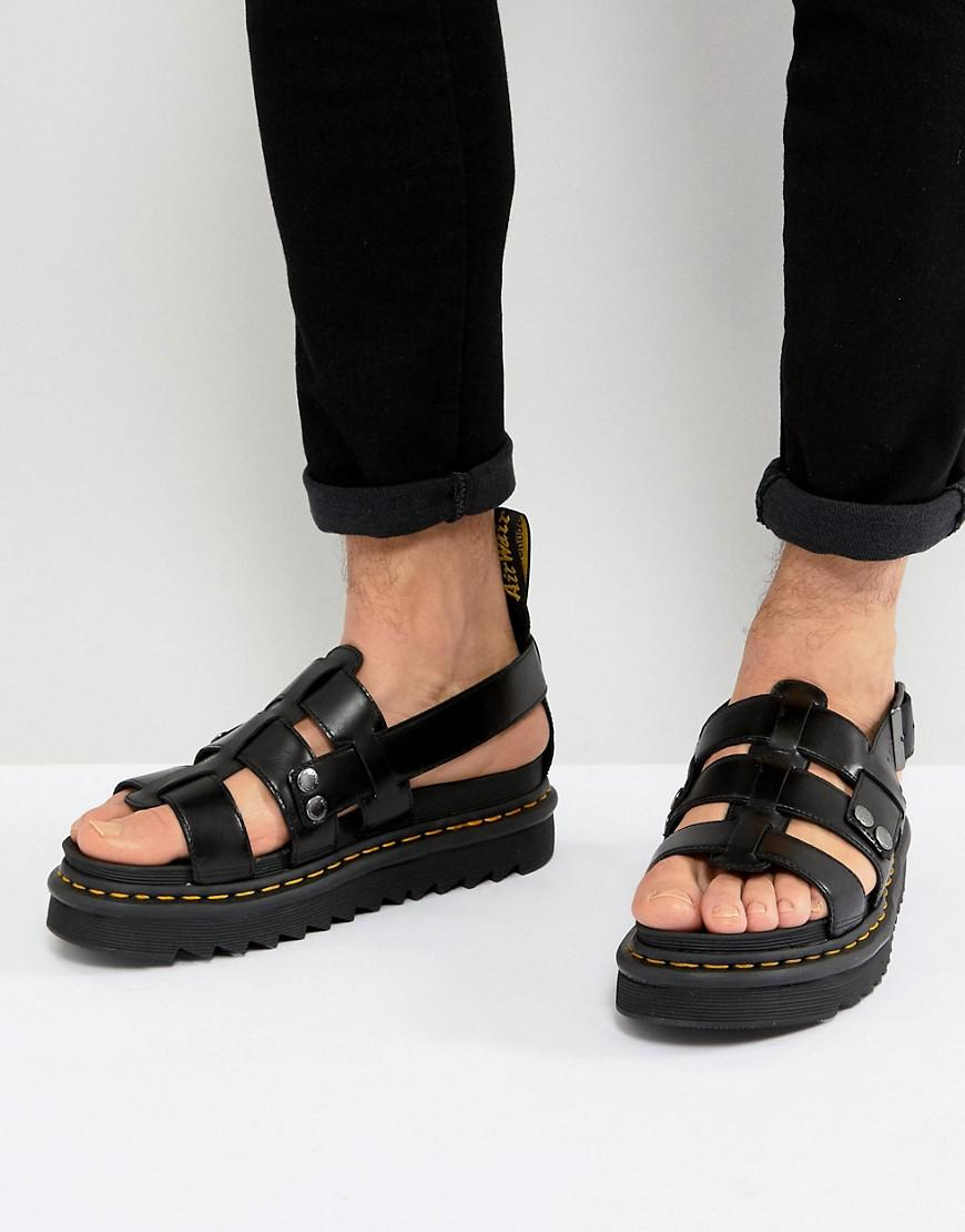 ad77e1021284 Lyst - Dr. Martens Terry Strap Sandals In Black in Black for Men