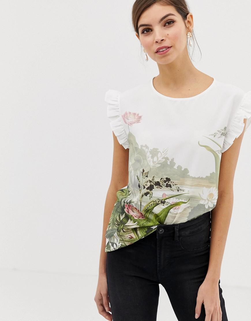 9f3450847 Ted Baker Wonderland Woven Front Tee - Lyst