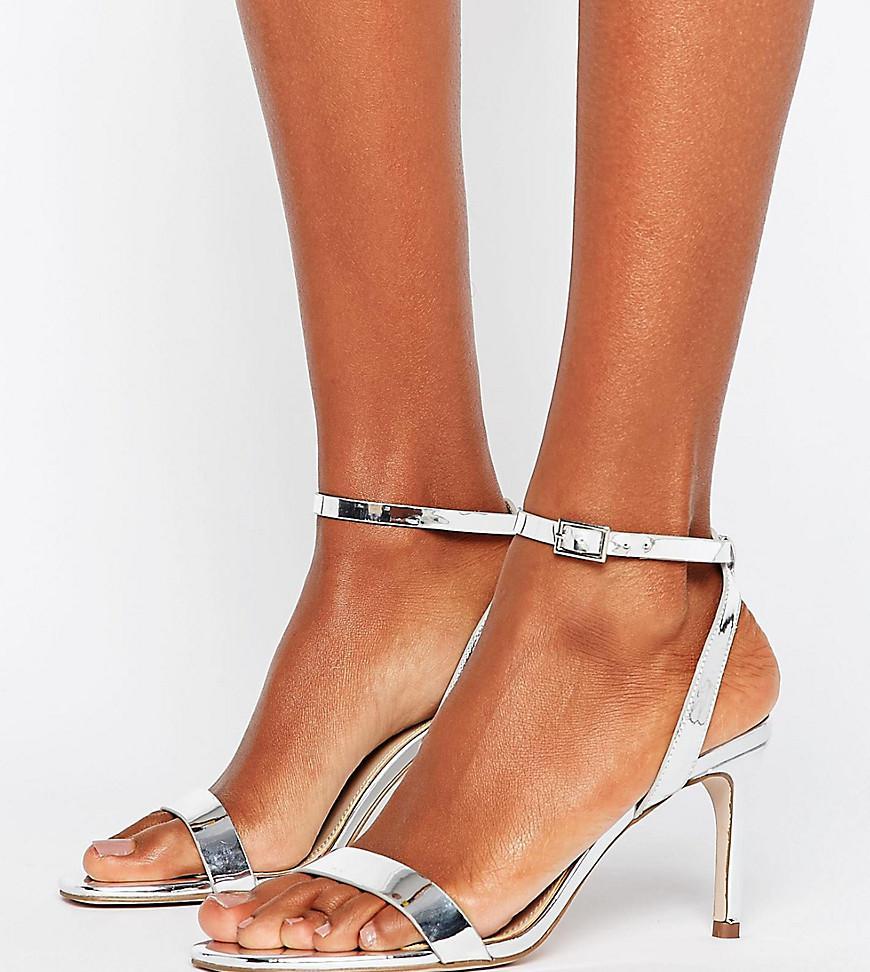 56f481483733 Lyst - ASOS Asos Hideaway Wide Fit Heeled Sandals in Metallic