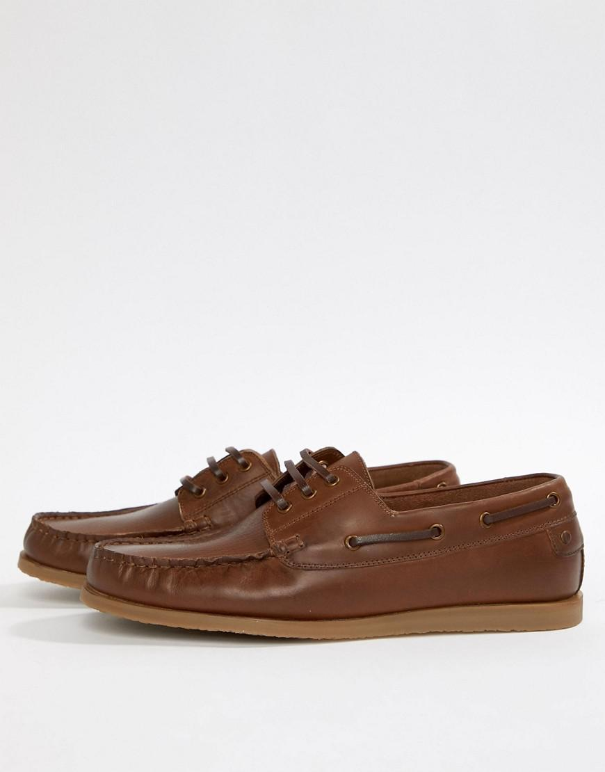 Dune Boat Shoes in Leather