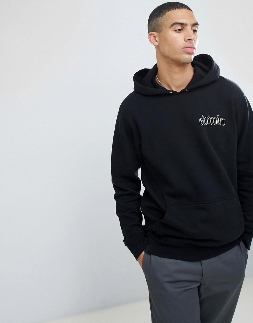 0051566974cb Edwin Best Or Nothing Hoodie in Black for Men - Lyst
