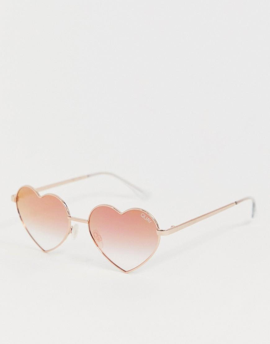 455b7e388b Men s Pink Heart Breaker Sunglasses In Rose Gold
