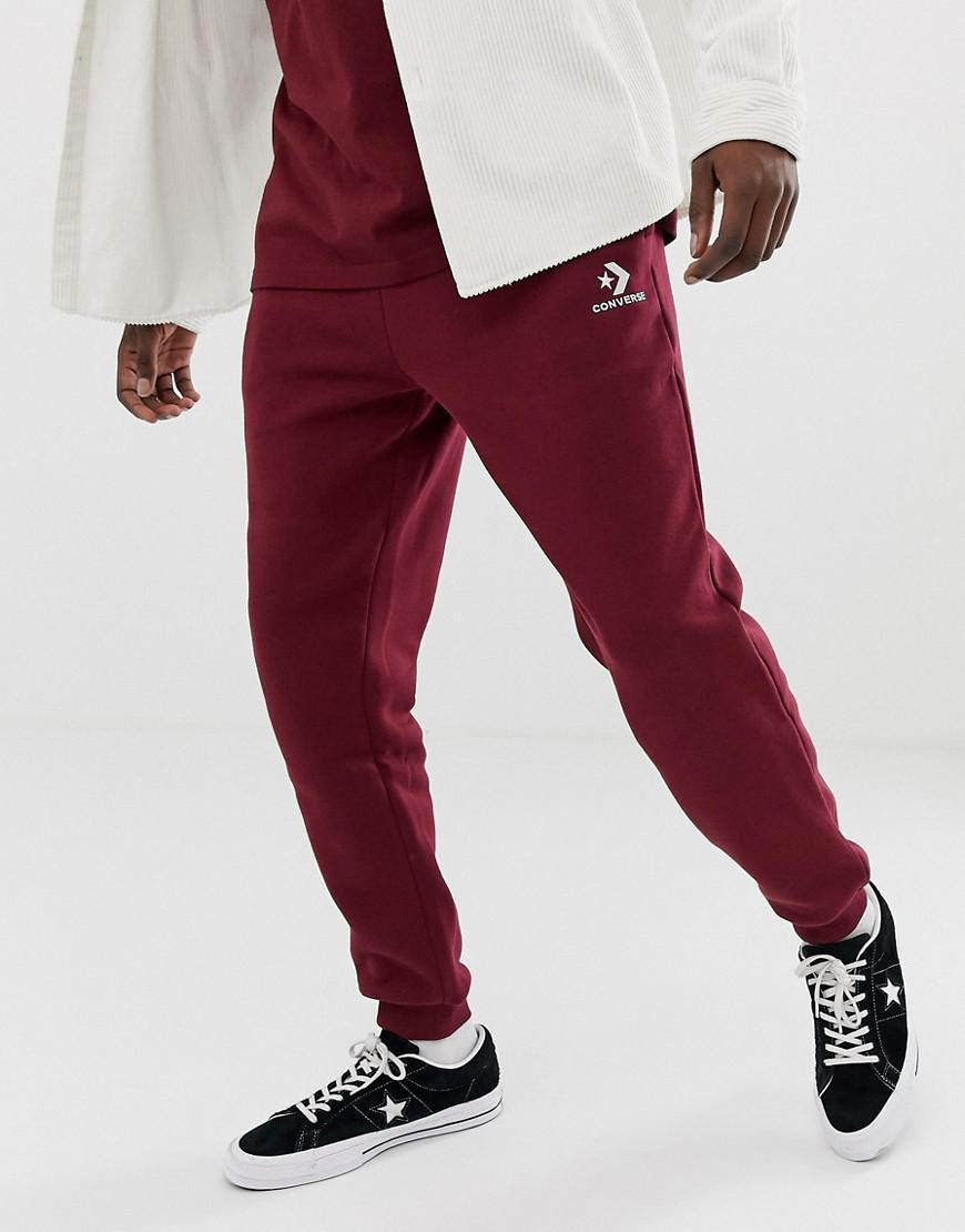 66ad926327 Converse Small Logo Joggers In Red 10008815-a11 in Red for Men - Lyst