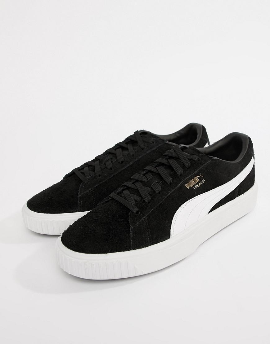 bdb3ea84655 Lyst - PUMA Breaker Suede Sneakers In Black 36662503 in Black for Men
