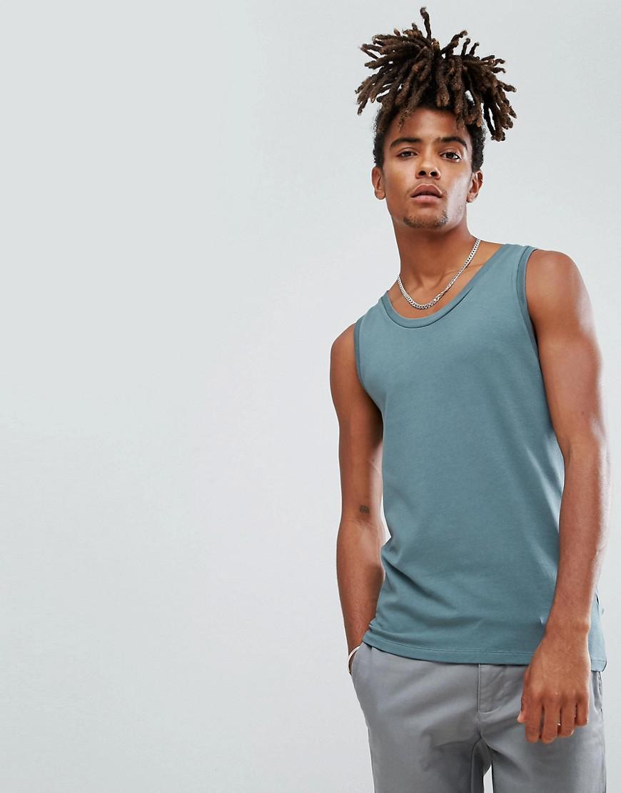 ASOS. Men's Blue Extreme Muscle Vest ...