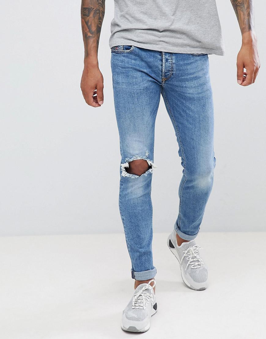 912c19c9 Lyst - DIESEL Sleenker Skinny Jeans 084ri in Blue for Men