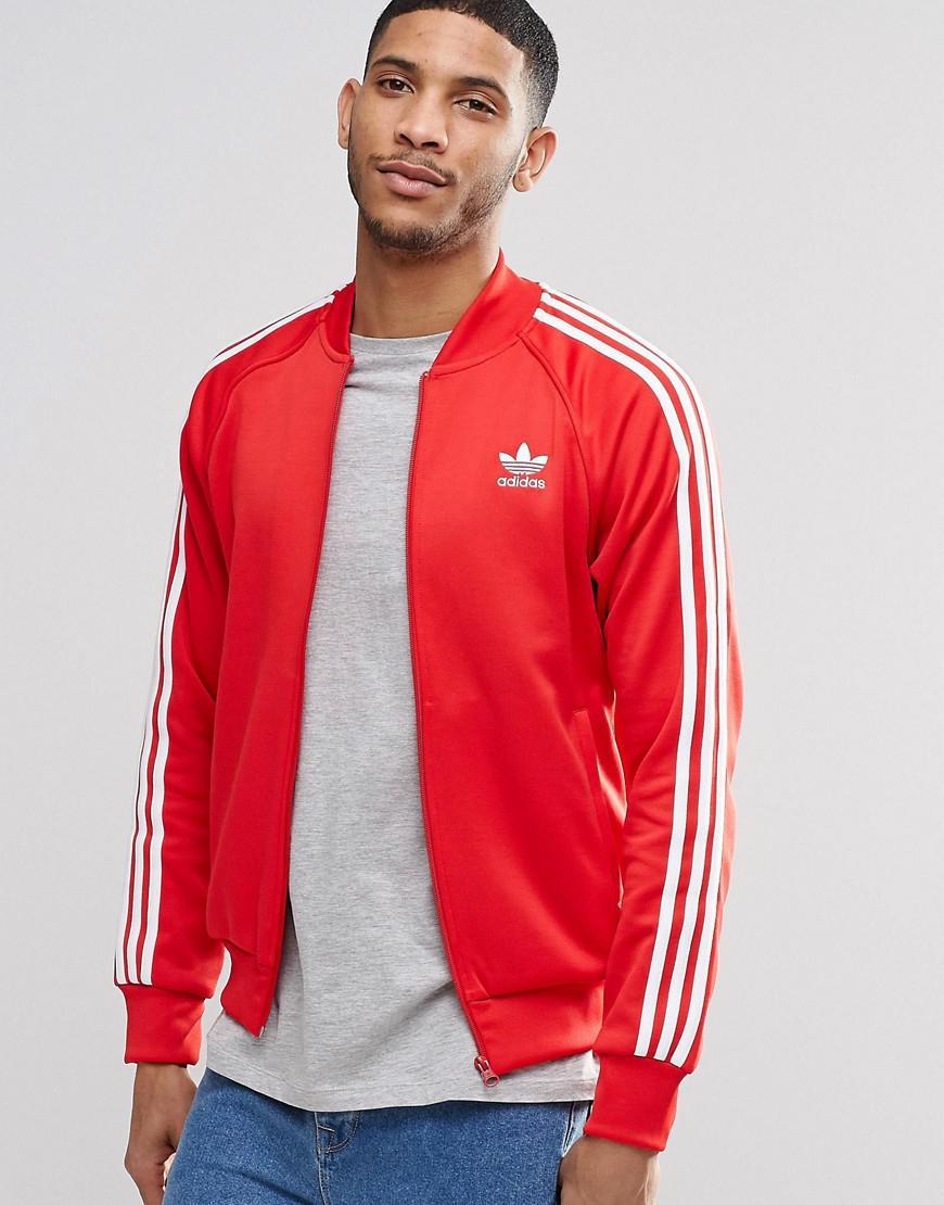 4403d1a7 adidas Originals Trefoil Superstar Track Jacket Ay7062 in Red for ...