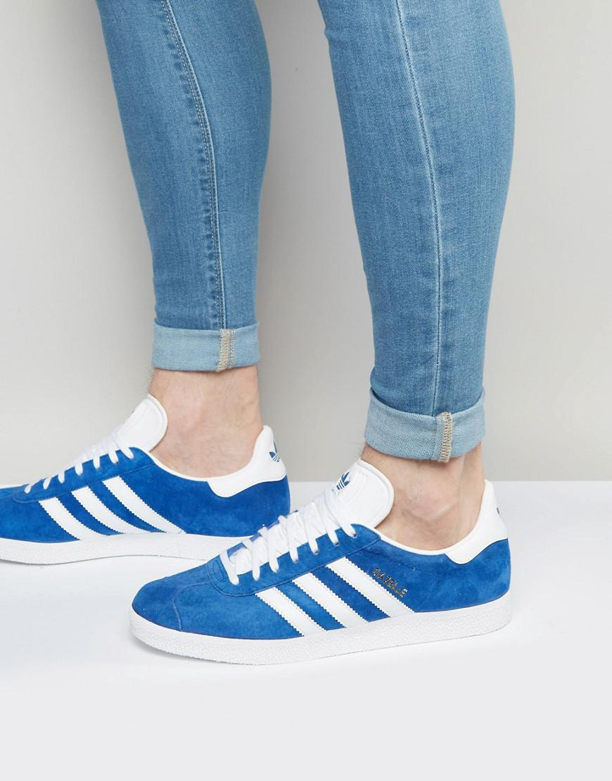 new product c0642 fe4b6 adidas Originals. Mens Gazelle Trainers In Blue S76227