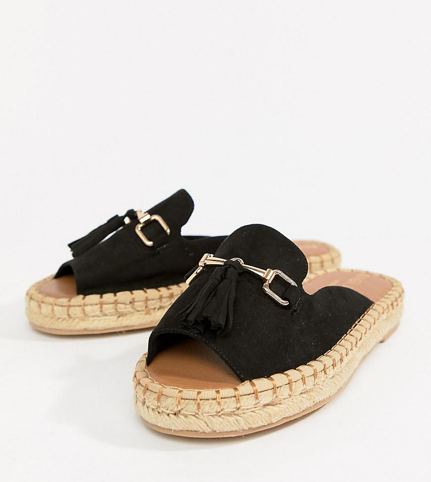 collections cheap price clearance sneakernews River Island Wide Fit espadrille loafer with tassel front cheap price original m7y2vtU