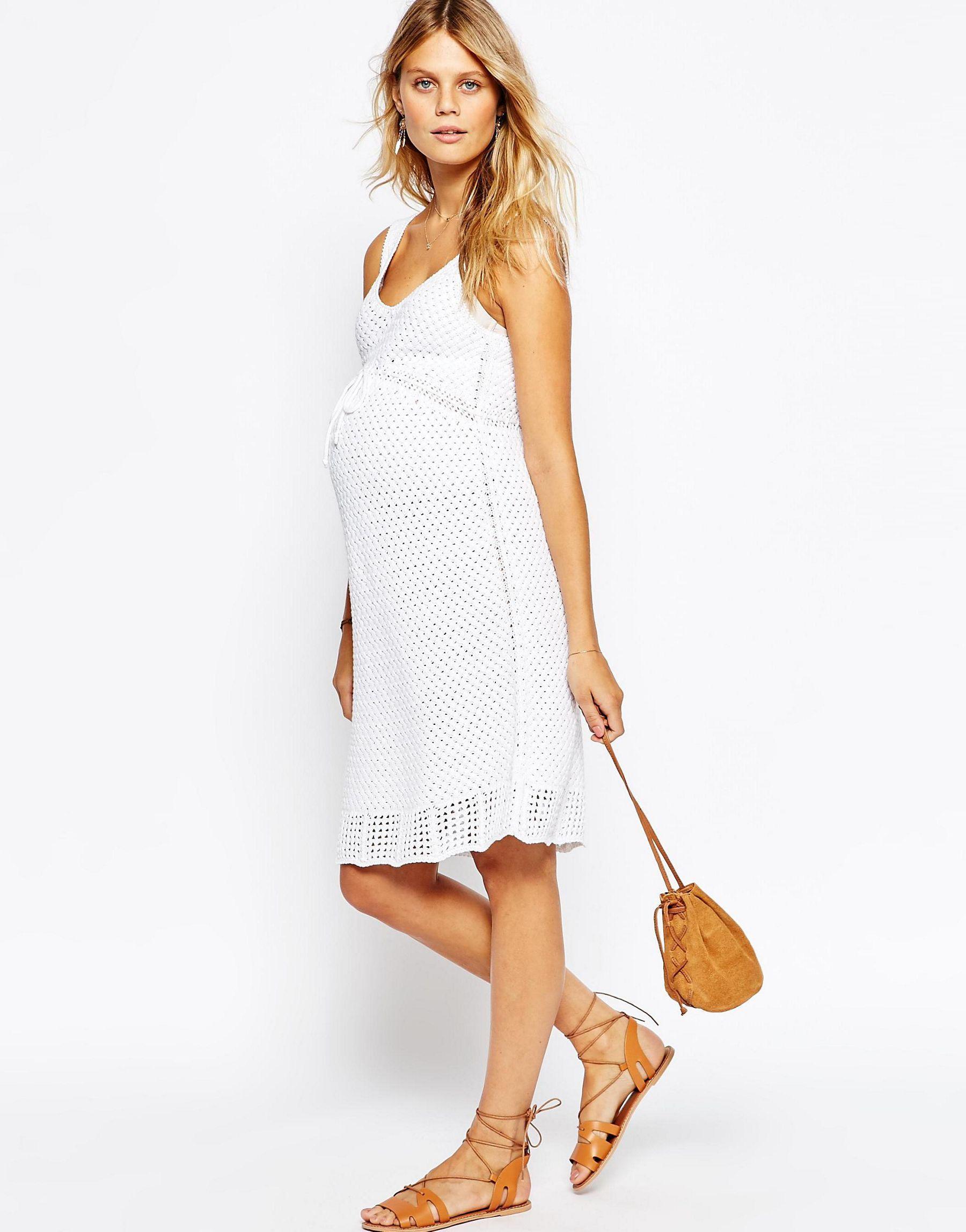 Asos hand crochet skater dress white in white lyst gallery womens crochet dresses womens white dresses ombrellifo Images