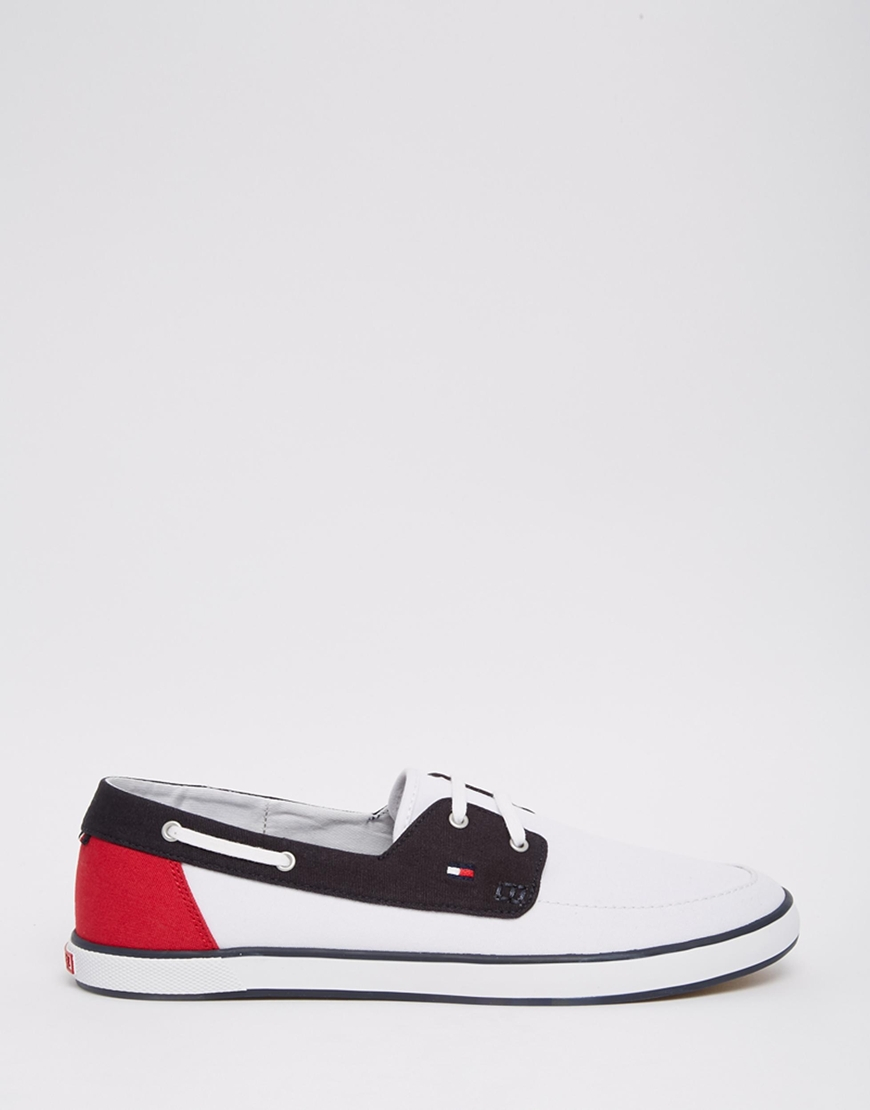 781852fd53a61e Lyst - Tommy Hilfiger Harlow Canvas Boat Shoes in Black for Men