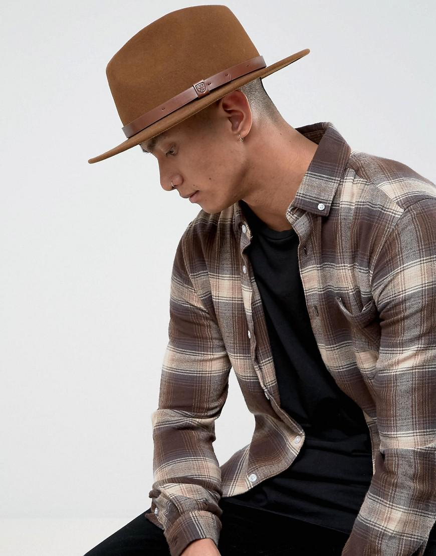 6cb2f1d6733 Lyst - Brixton Messer Fedora Hat in Brown for Men