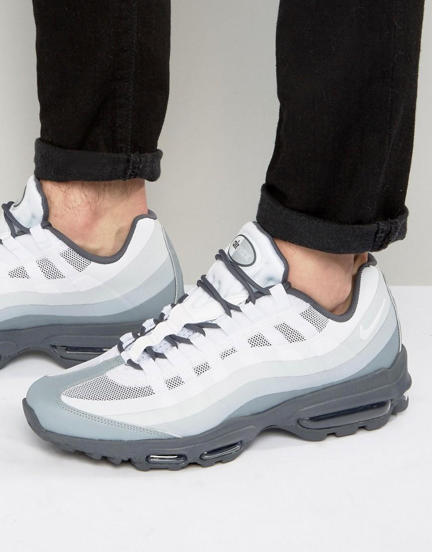 san francisco 12a20 ac1a7 Nike Air Max 95 Ultra Essential Trainers In Grey 857910-002 in Gray ...