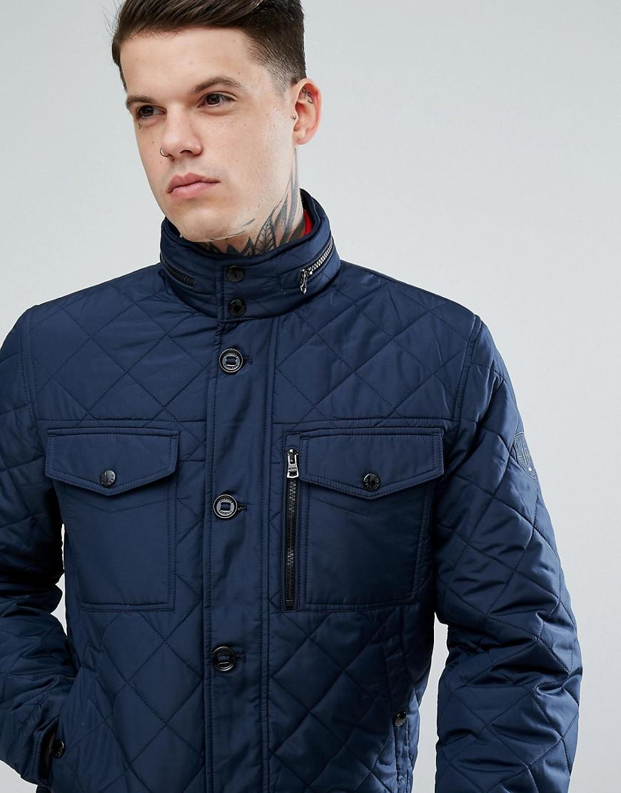 6fb74331ca6d Lyst - Tommy Hilfiger Diamond Quilted Bomber Jacket in Blue for Men