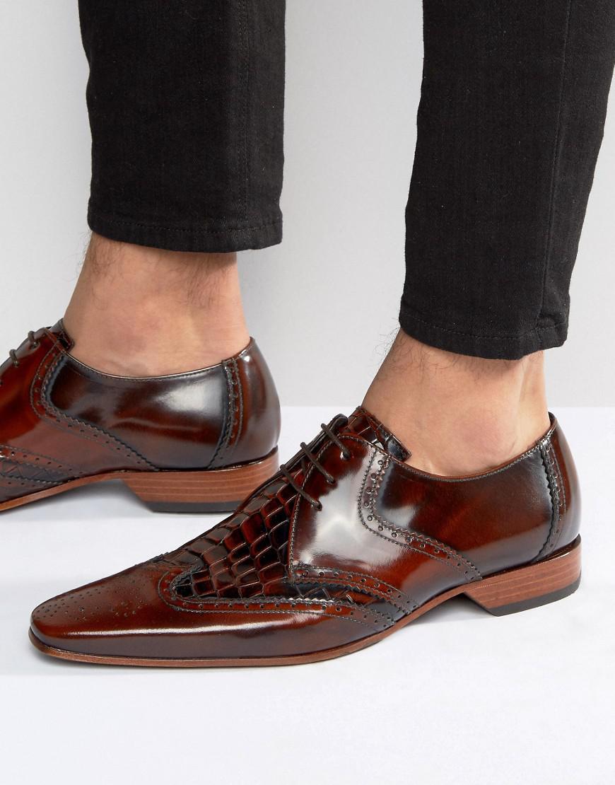 Jeffery West Escobar Croc Brogue Shoes in WtrByh4