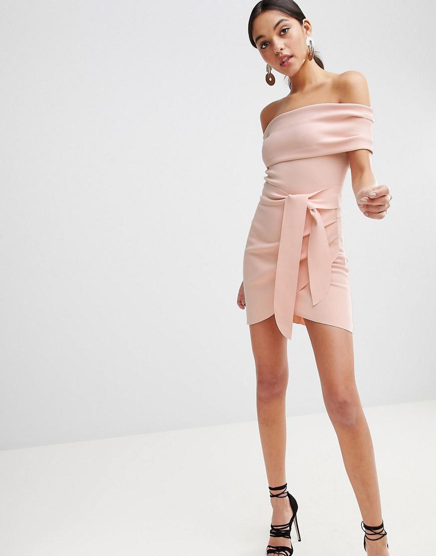 d39470f8bbcad Bec & Bridge Off Shoulder Bodycon Mini Dress in Pink - Lyst