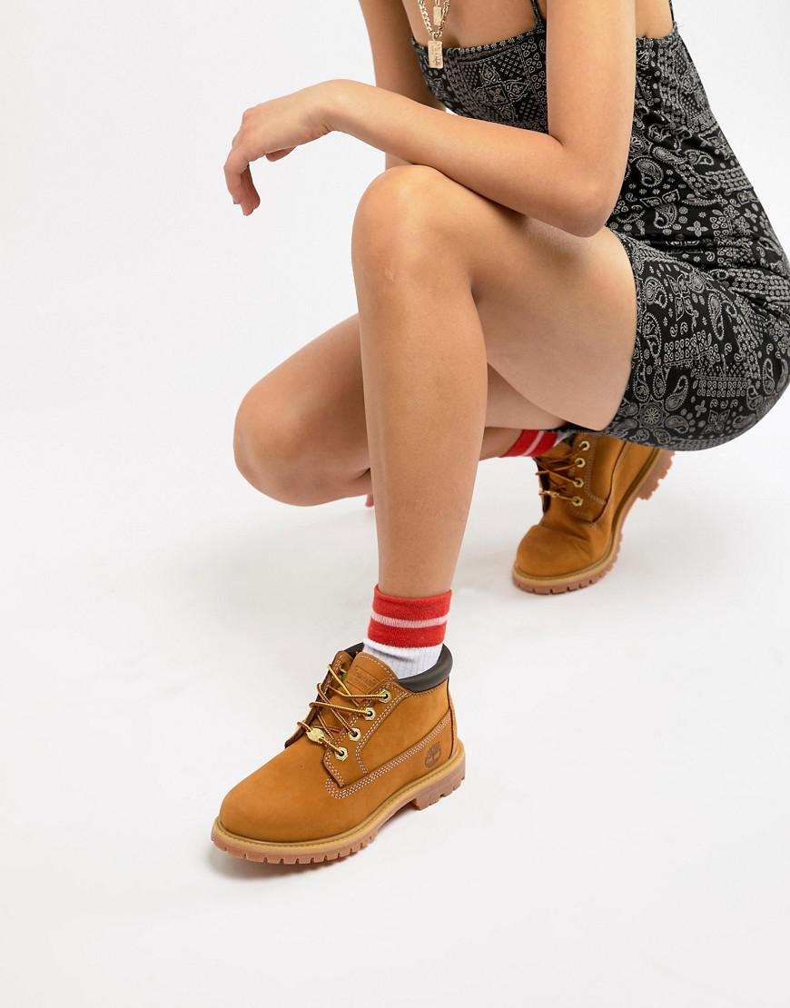 509bfe8d2a4e Timberland Nellie Chukka Double Wheat Nubuck Leather Ankle Boots ...