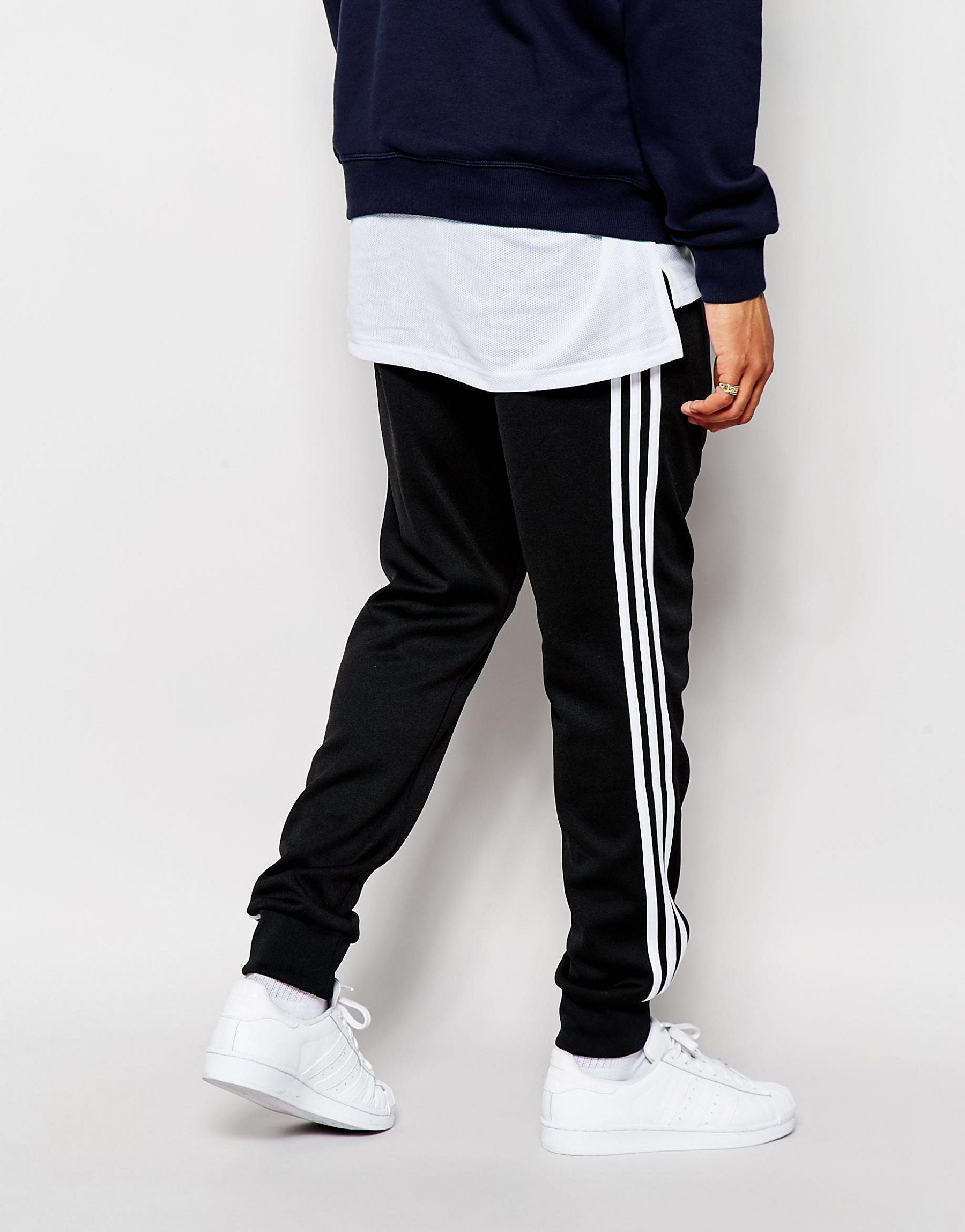 Paul Smith Suits >> Adidas originals Superstar Cuffed Track Pants Aj6960 in Black for Men   Lyst