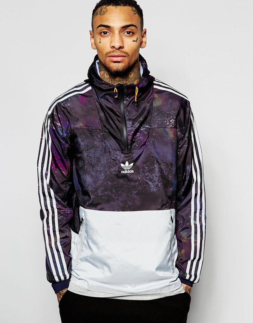 adidas originals windbreaker jacket in marble print an9912. Black Bedroom Furniture Sets. Home Design Ideas