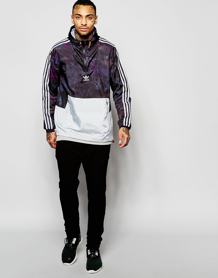 Adidas originals Windbreaker Jacket In Marble Print An9912 in ...