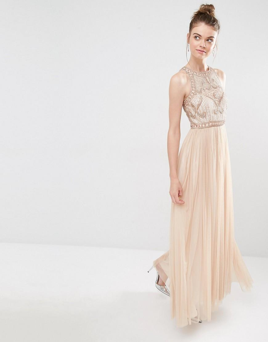 8cb5d6454d Frock and Frill Tulle Maxi Dress With Embellished Bodice in Pink - Lyst