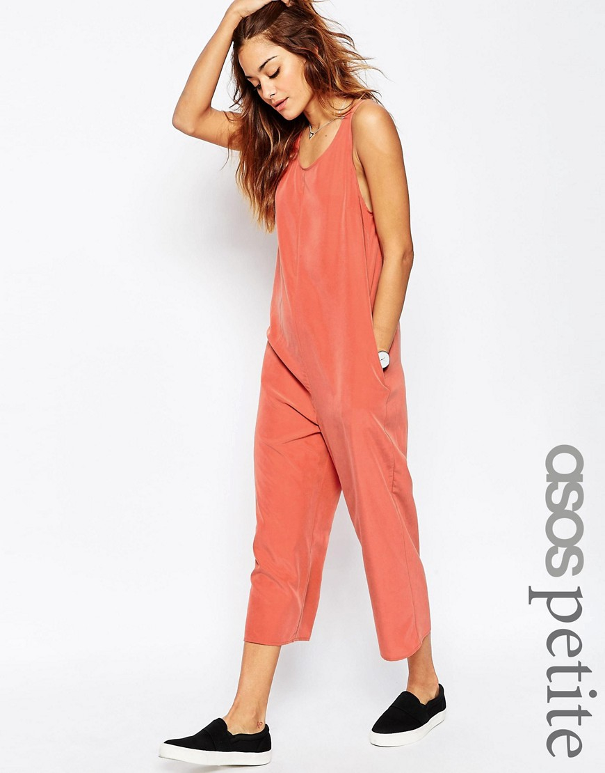 8a759b1591b3 Lyst - ASOS Petite Minimal Jumpsuit in Orange