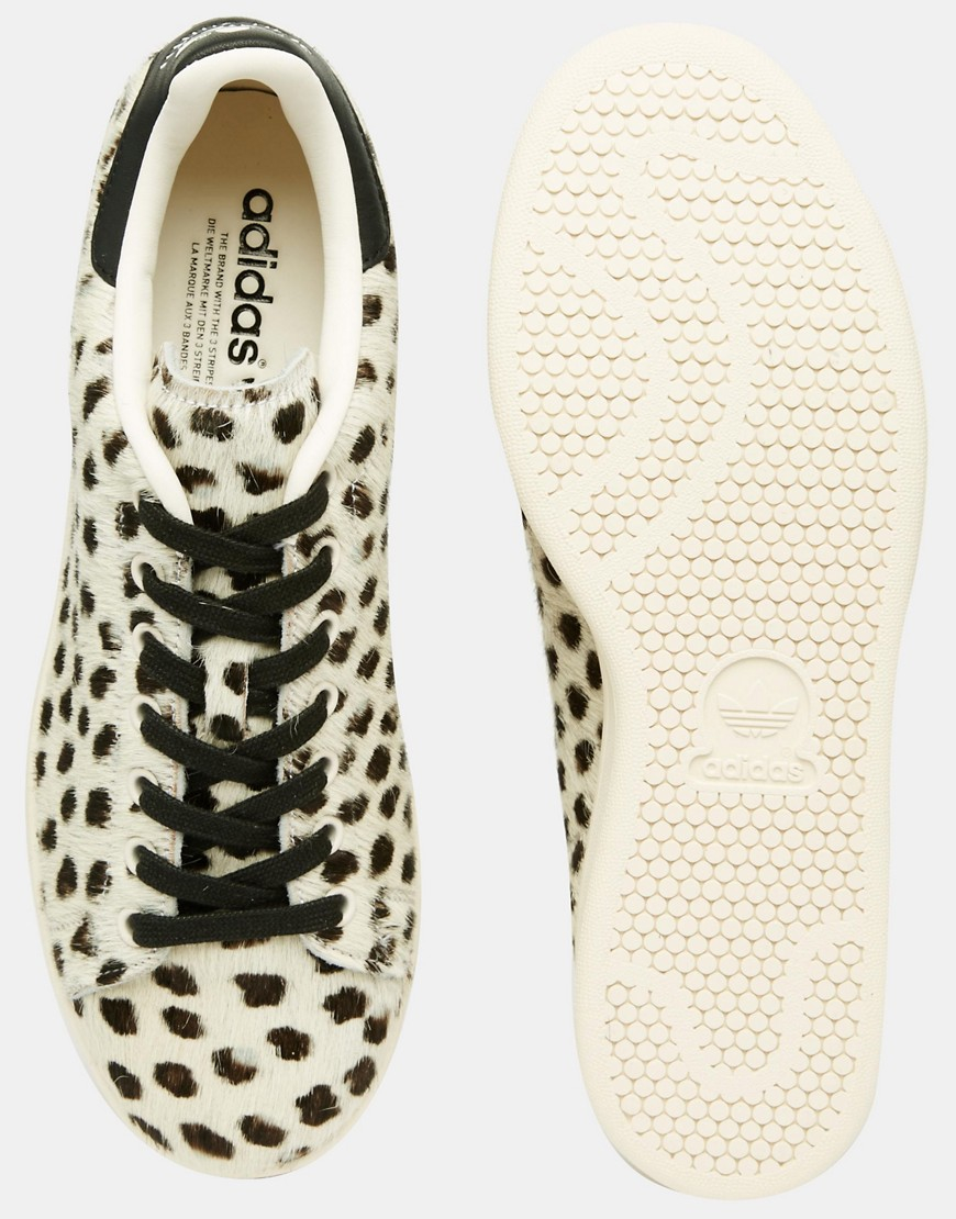 b7f616a4b7604 Adidas Originals Stan Smith Pony Effect Leopard Trainers S75117 in ...