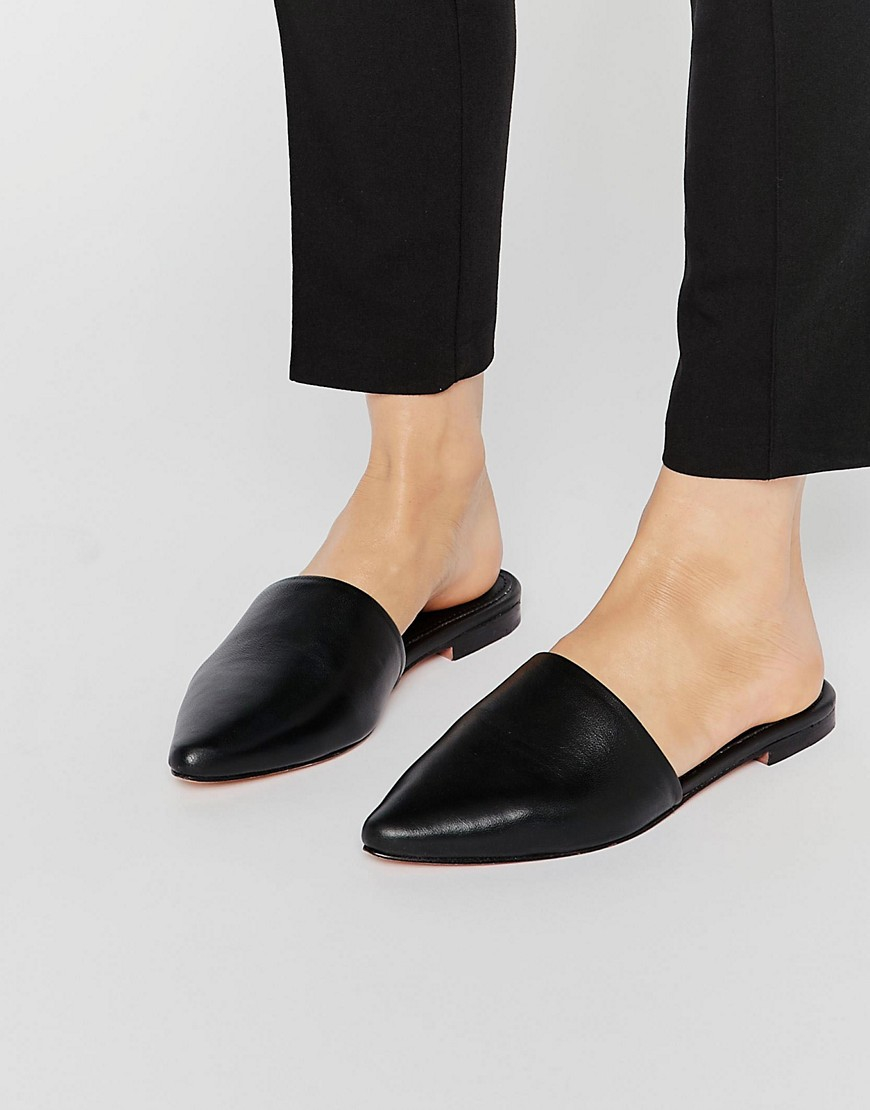 c19fb64809a7 Lyst - Warehouse Slip On Mules - Black in Black