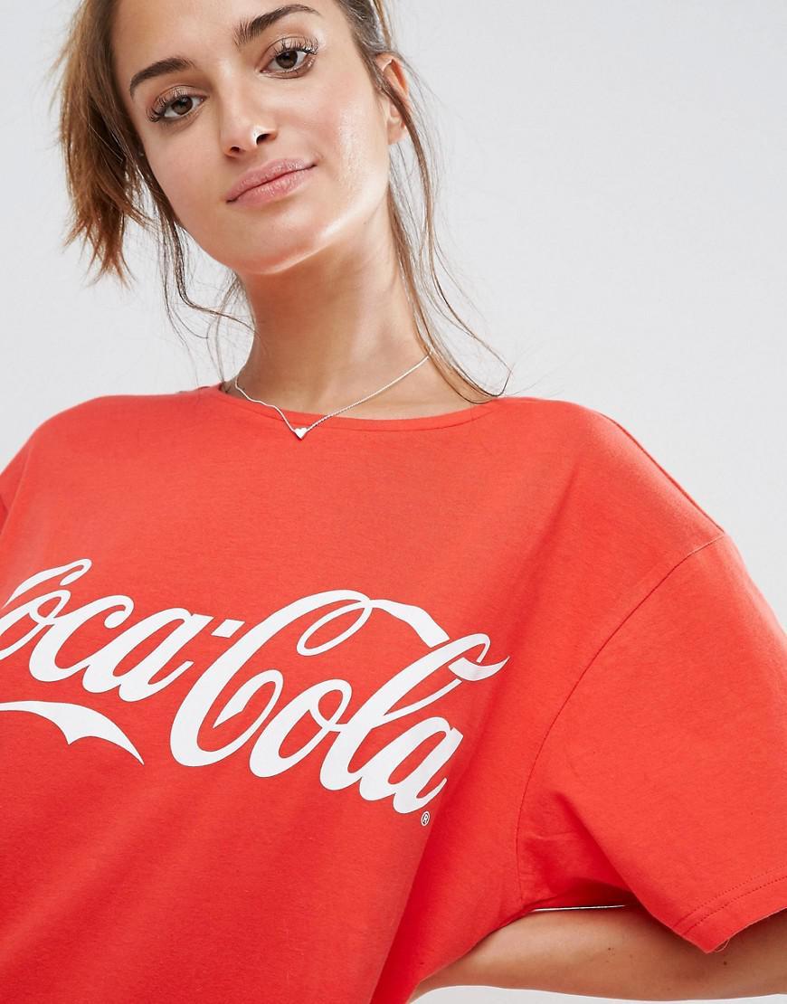 0b2b7ec0dd3 ASOS Asos Coca-cola Oversized Tee in Red - Lyst