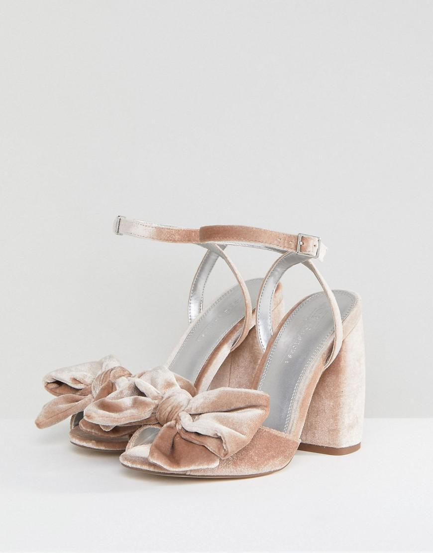 ad218f704ee Lyst - ASOS Asos Hampton Wide Fit Heeled Sandals in Pink - Save 21%