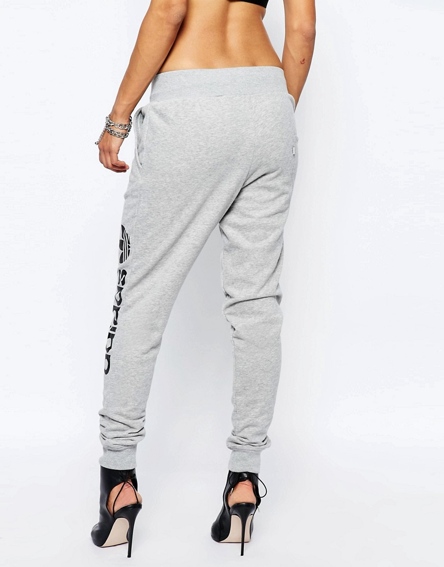 adidas originals sweat pants with side logo