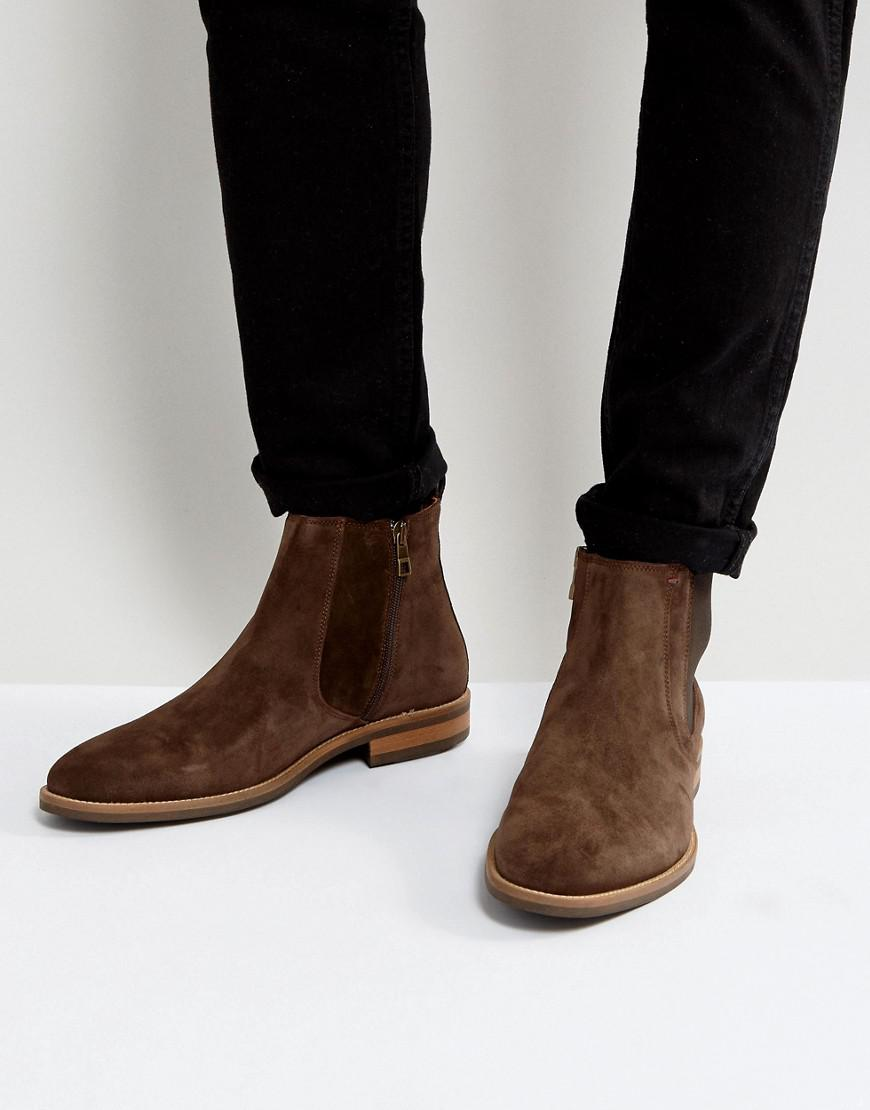 tommy hilfiger daytona chelsea boots suede in brown in brown for men lyst. Black Bedroom Furniture Sets. Home Design Ideas