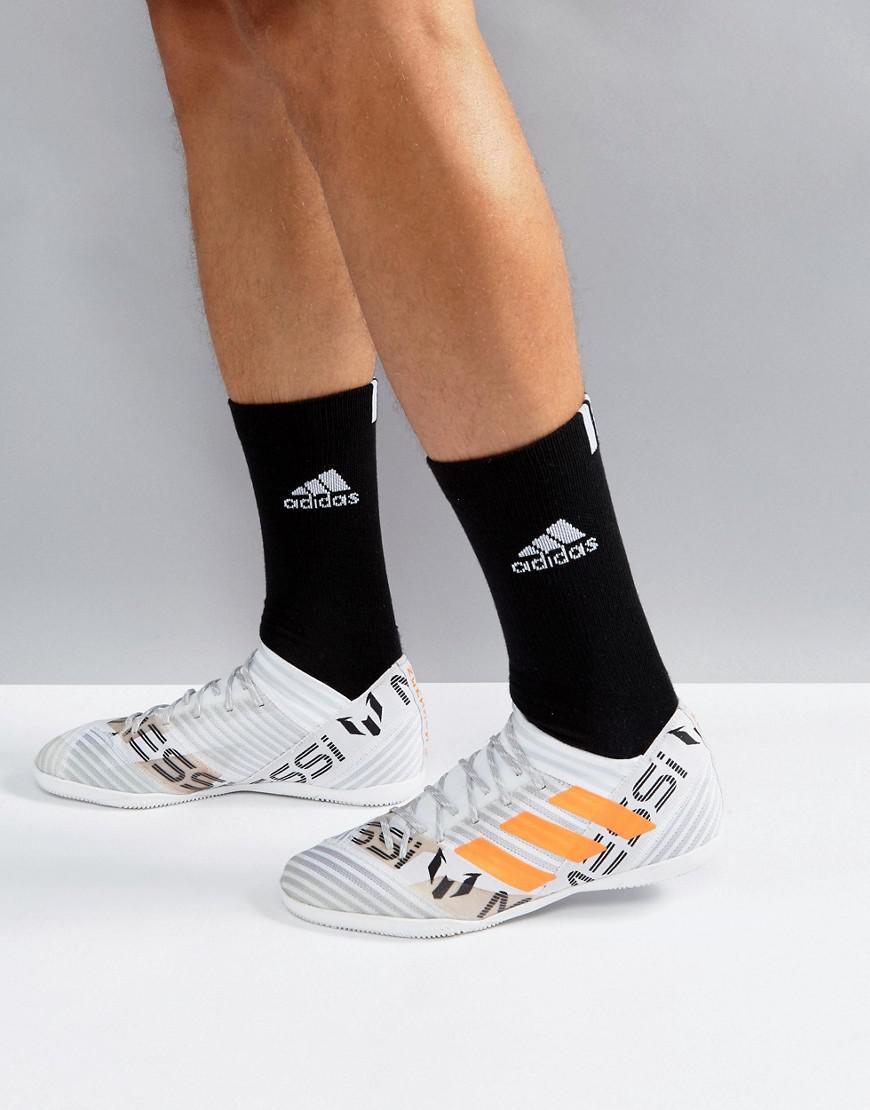 86eb9c4c8 adidas Football Nemeziz X Messi Tango Indoor Sneakers In White ...