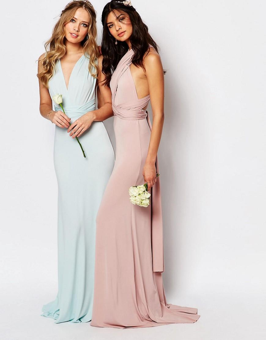 Tfnc London Wedding Multiway Maxi Dress in Green
