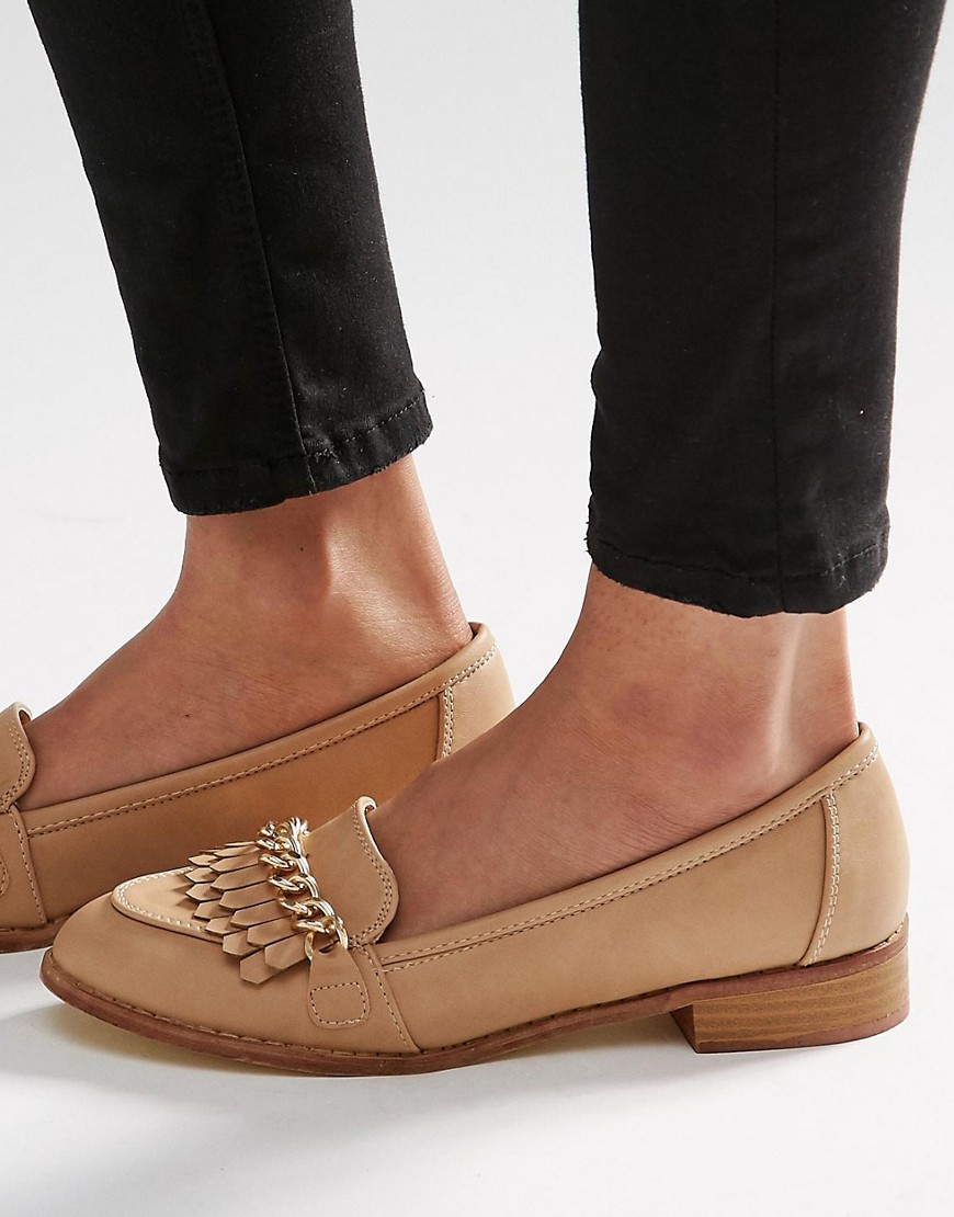 Missguided Nude Lace Up Espadrille Flatform in Natural - Lyst